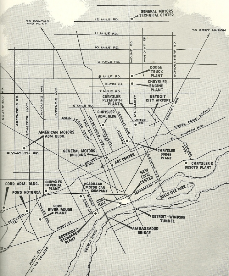 Program for the 1960 Detroit Auto Show via John Lloyd, Flickr