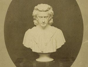 Statue of Edwin Booth. Via Folger Shakespeare Library