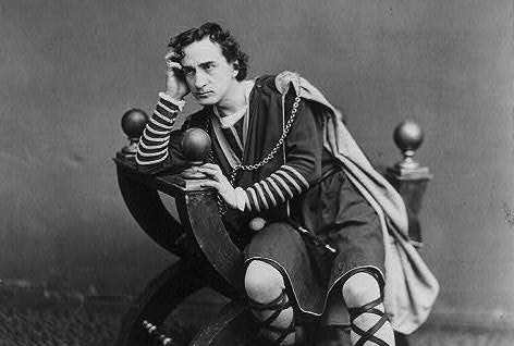 Edwin Booth as Hamlet. Photo via Wikimedia Commons