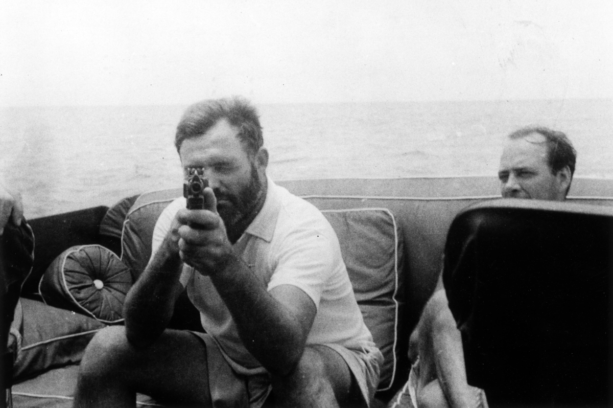 Ernest Hemingway aboard the Pilar, 1935: Wikimedia Commons