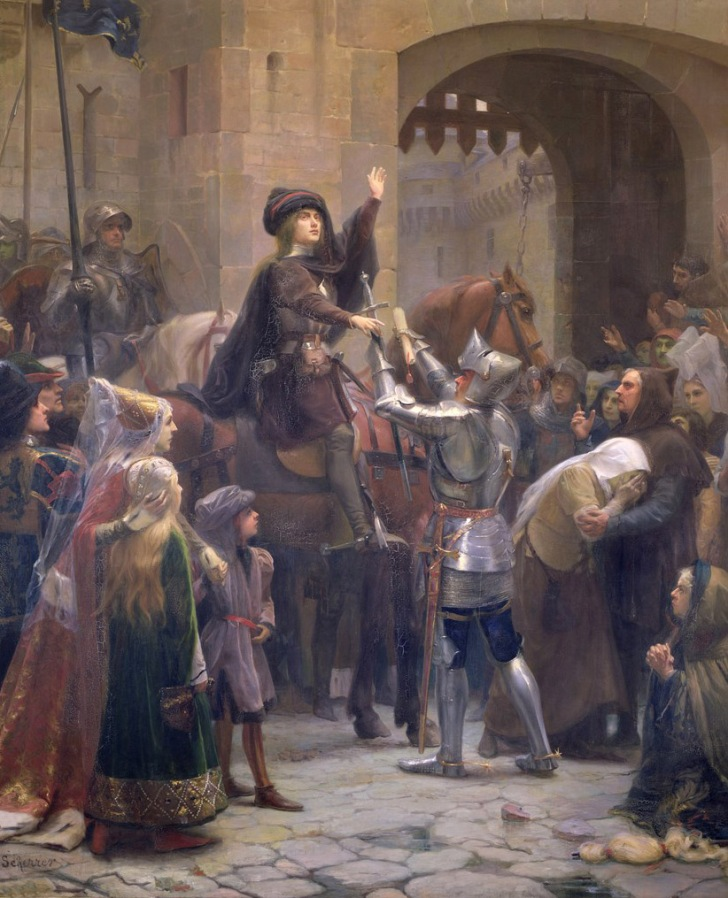 "Jean-Jacques Scherrer, ""Joan of Arc Leaving Vaucouleurs."" Image via sofi01"