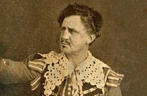 Junius Booth in costume. Photo via Wikimedia Commons