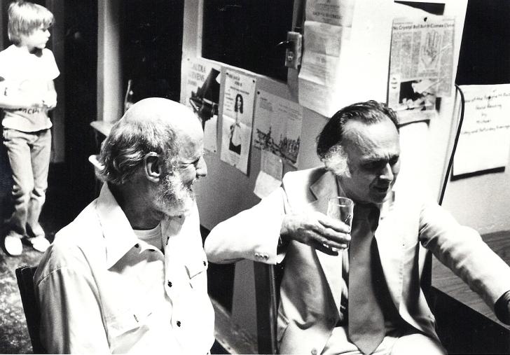 Lawrence Ferlinghetti and Robert Duncan, 1978. Photo byGary Stevens