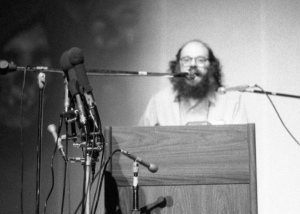 Allen Ginsberg in Washington D.C., 1970. Photo by Thomas Evans