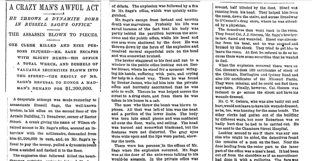 New York Times coverage of the bombing.
