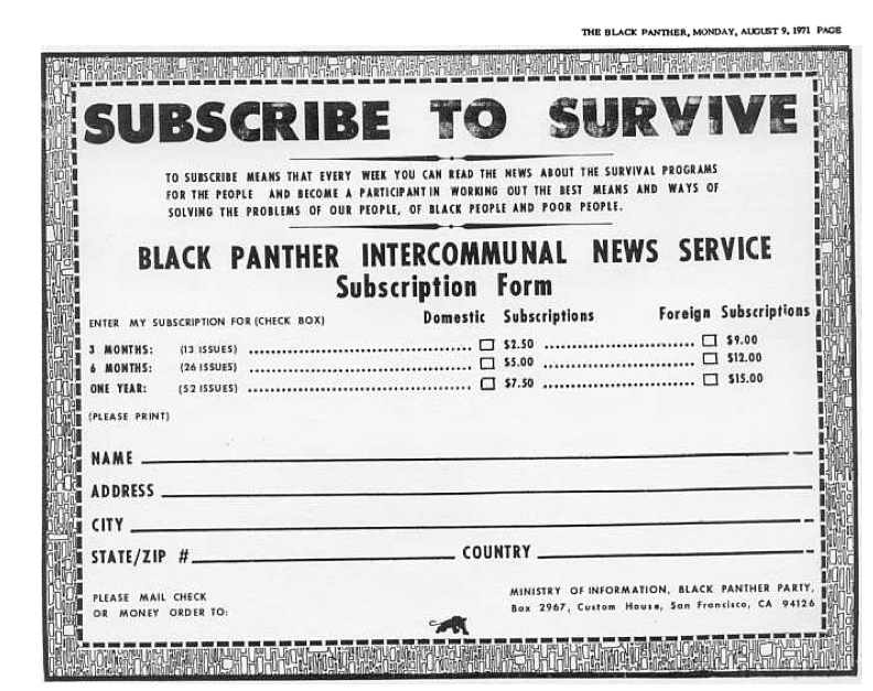 The Black Panther newsletter, 1971: Libcom