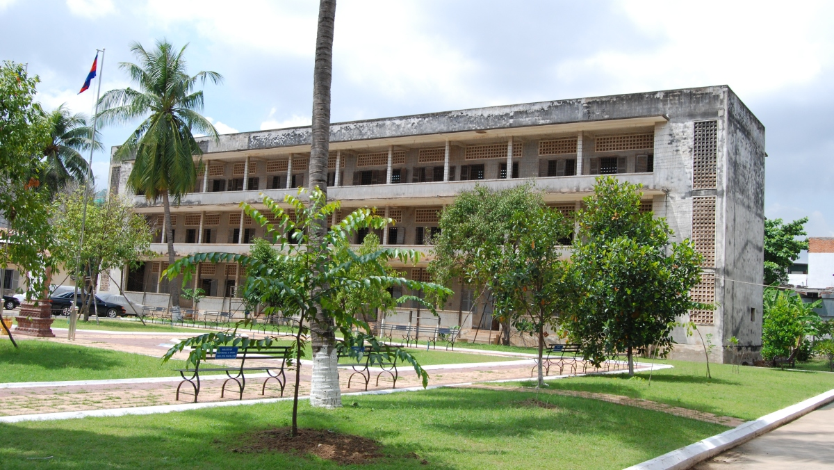 Security Prison 21 (S-21), Tuol Sleng Genocide Museum, Phnom Penh, Cambodia. Photo via Wikimedia Commons