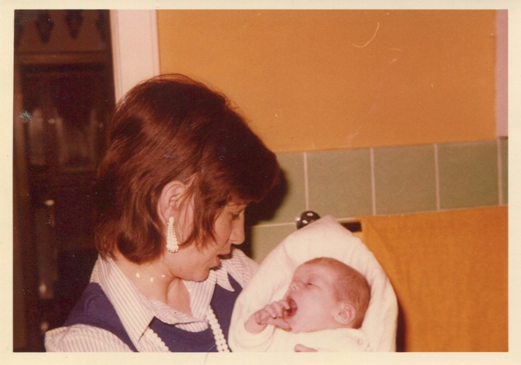 The author and her mother.