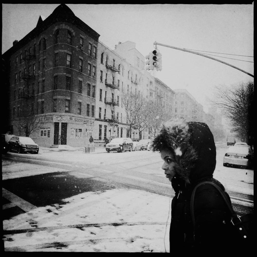 Harlem in snow.