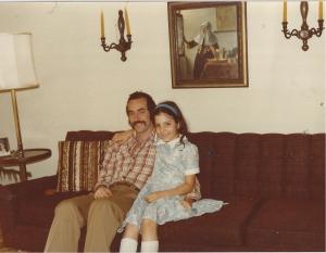 Alysia Abbott with her father Steve Abbott in 1979. Photo courtesy of Alysia Abbott.