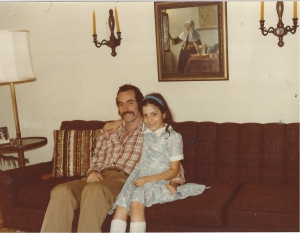 Alysia Abbott with her father Steve Abbott in 1979. Photo courtesy of Alysia Abbott.