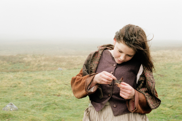 Cathy with a lock of hair in Andrea Arnold's 2011 adaptation of Wuthering Heights. Credit OscilloscopeRecords)
