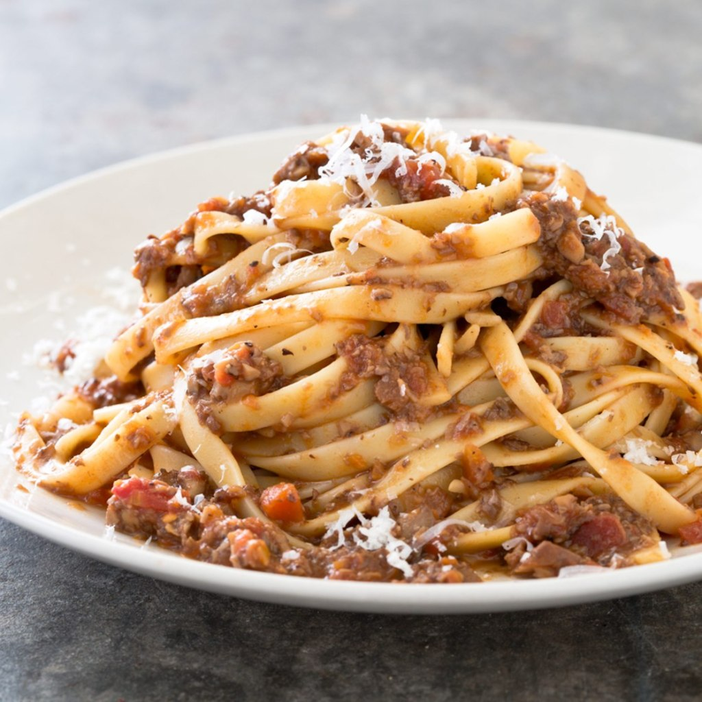 "Mushroom Bolognese; a recipe from ""The Complete Vegetarian Cookbook"""