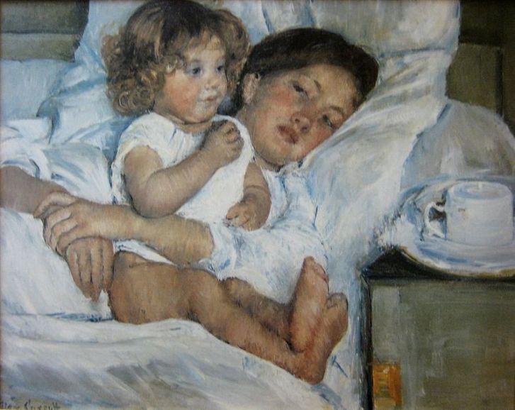 Breakfast in Bed (1897) by Mary Cassatt, Huntington Library