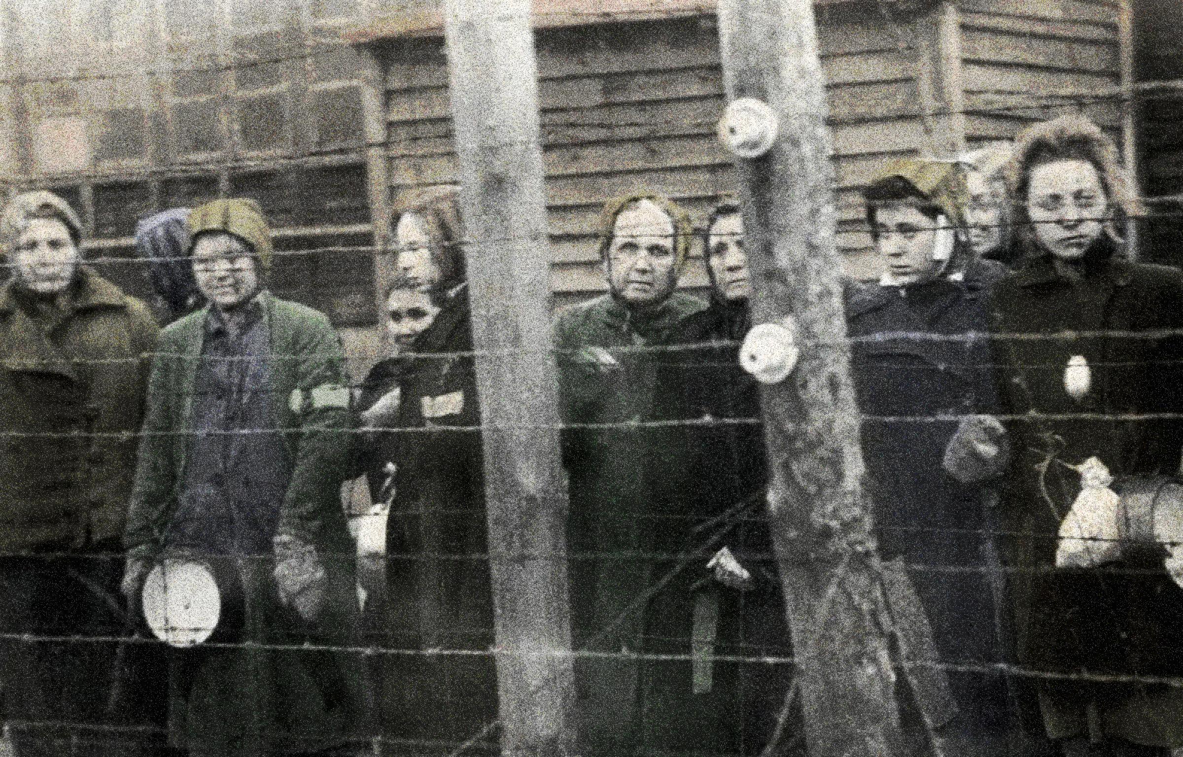 Naked girl in nazi camp