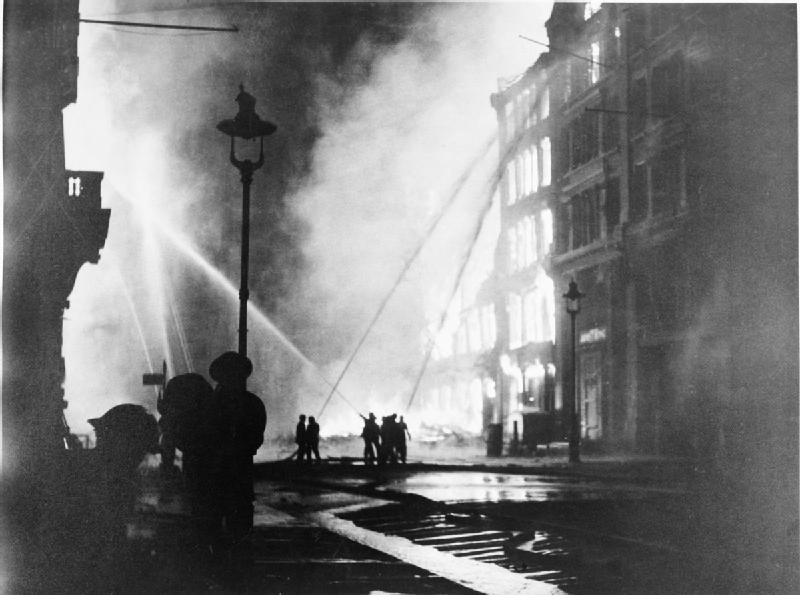 Bombings in London, 1941. Photo via Wikimedia Commons