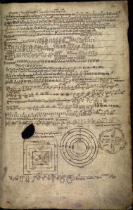The Book of Ballymote (1390), explaining the ogam script. Via Wikimedia Commons.