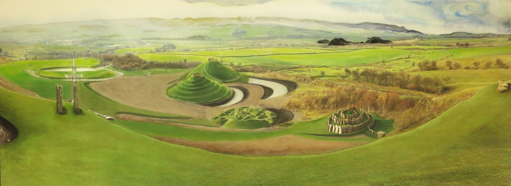 A panorama painting of Crawick.