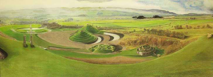 A panorama painting of Crawick.