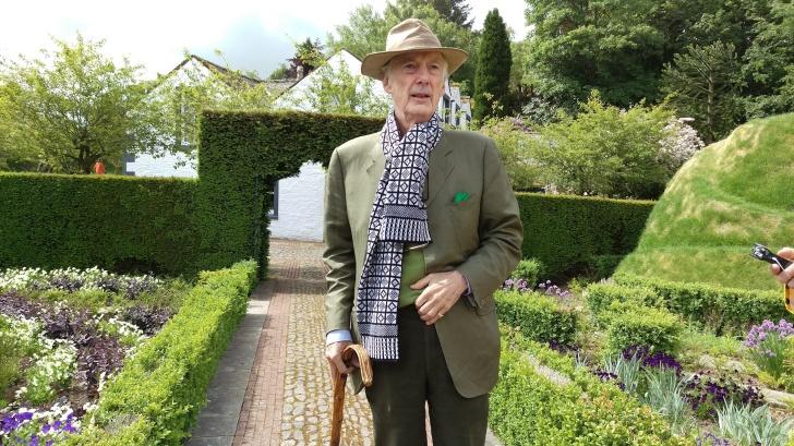 03 Charles Jencks at his home in Portrack. (Photo Alina Simone)