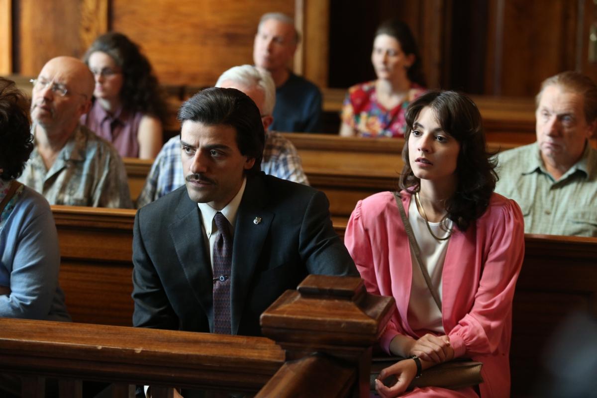 Oscar Isaac as Nick Wasicsko (left) and Carla Quevedo as Nay Noe in Show Me a Hero. Photo:HBO/Paul Schiraldi