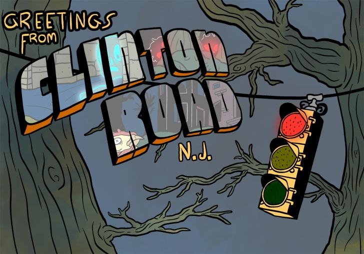Greetings from Clinton Road, N.J.