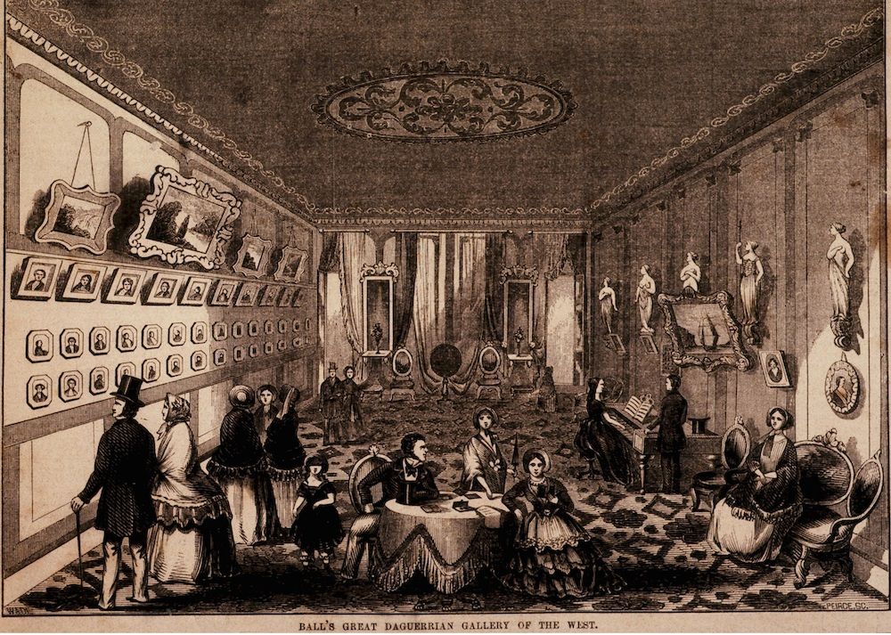 """Figure 6. S. C. Peirce, """"Ball's Great Daguerrian Gallery of the West,"""" c. 1854. Gleason's Pictorial Drawing-Room Companion, 6:13 (April 1, 1854): 208."""