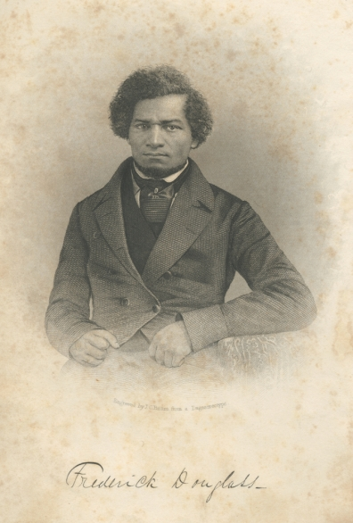 Plate 9 (cat. #9). John Chester Buttre (1821–1893), c 1855. Engraving from a lost daguerreotype, published as the frontispiece to Douglass's My Bondage and My Freedom (1855), Author's collection