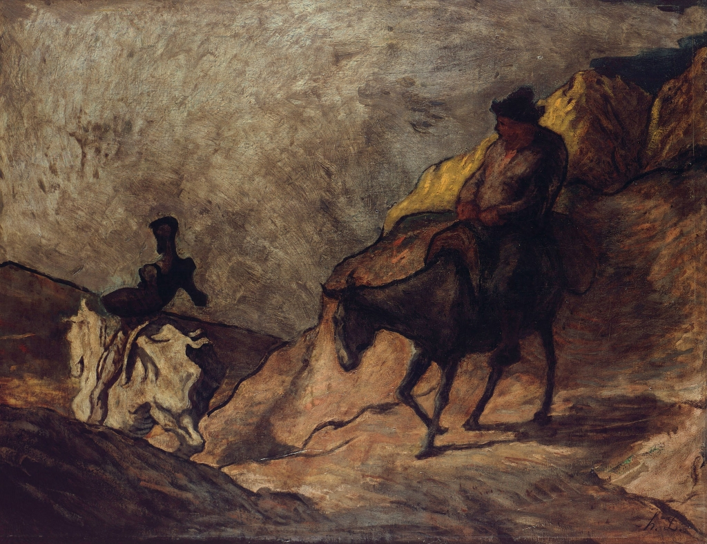 Honoré Daumier // Don Quichotte et Sancho Pansa // Wikicommons
