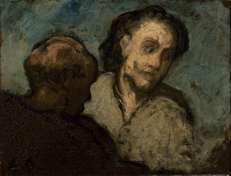 Honoré Daumier // Two Heads // Wikicommons