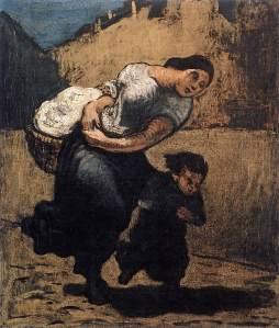 Honoré Daumier // Load (Washerwoman) // Wikicommons