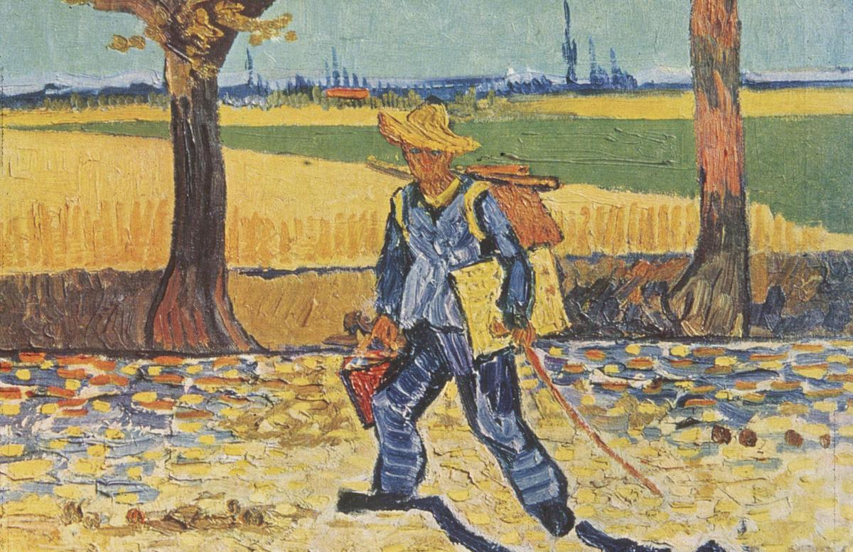 Painter on His Way to Work. Vincent Van Gogh, 1888