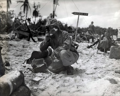 Lieutenant Colonel R.G. Ballance, Peleliu, 1944 Photo: USMC Archives, Flickr