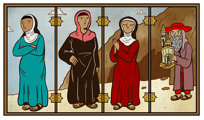 The rebels of early Christianity, like Melania, Paula, Susan and Jerome
