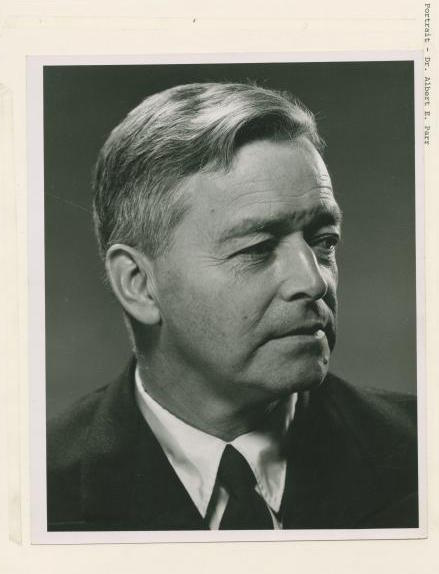 Dr. Albert E. Parr. Director American Museum of Natural History. Photo: NYPL Digital Collection.