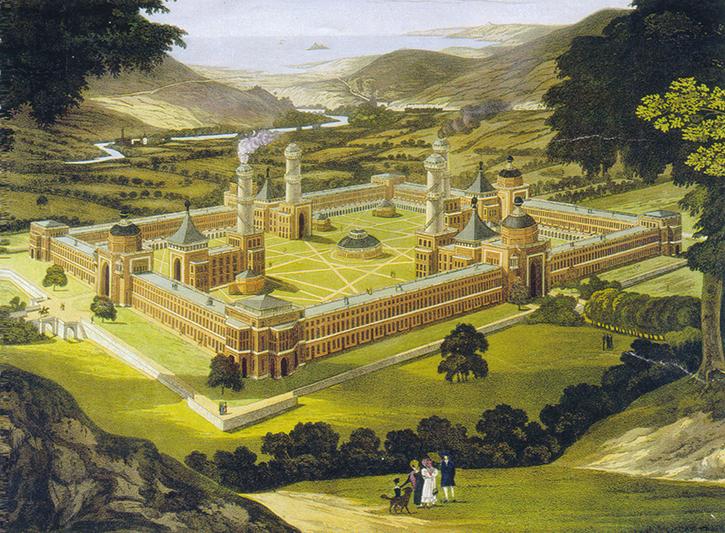 Robert Owen's vision of New Harmony, Indiana.  Via  Wikimedia Commons.