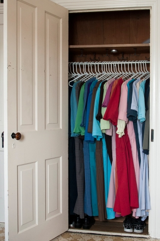 A teenage Amish girl's closet. Photo: Tessa Smucker