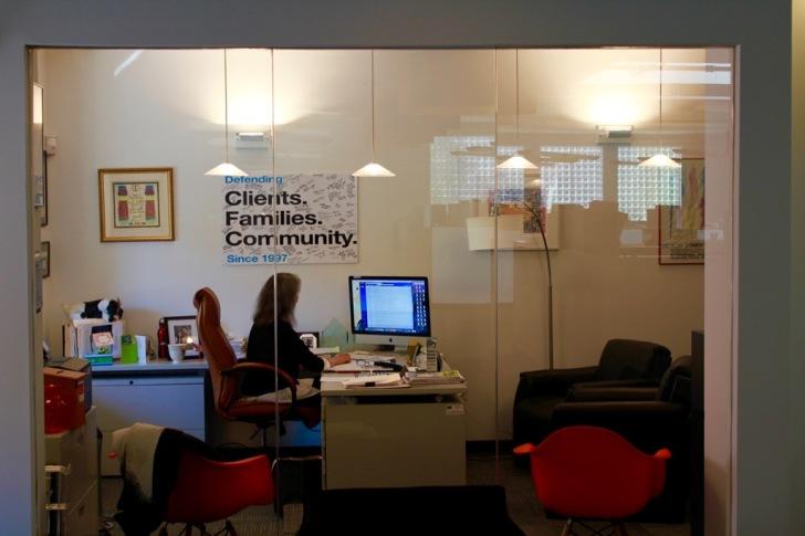 Robin in office