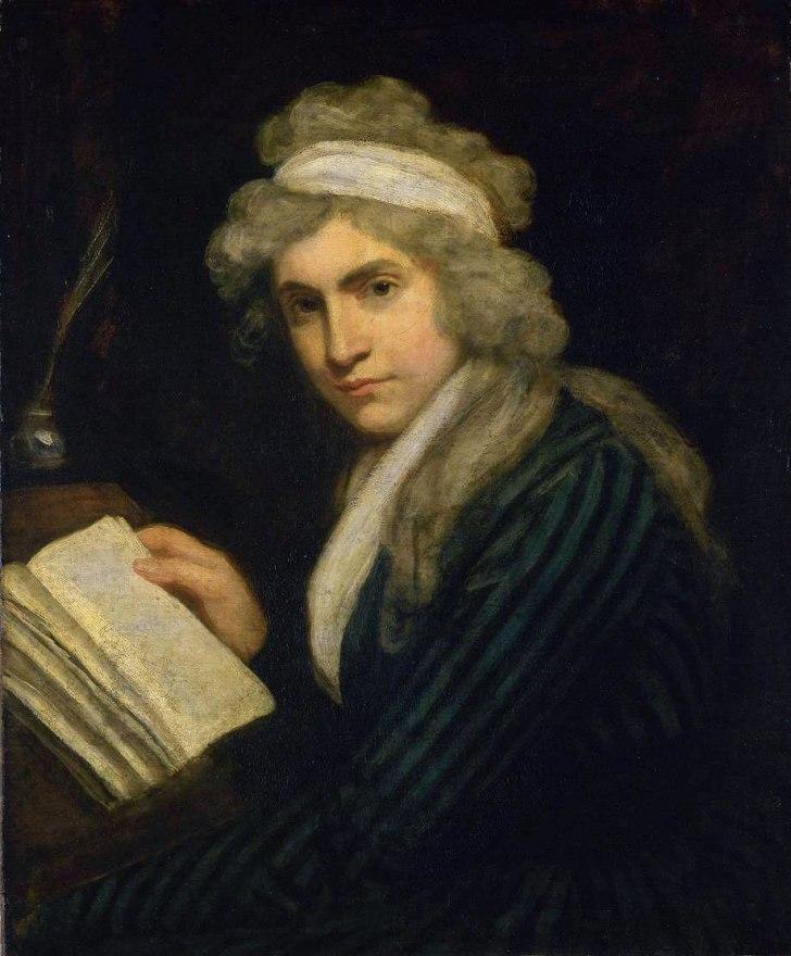 Portrait of Mary Wollstonecraft in the Tate Gallery, John Opie. Via: Wikimedia Commons