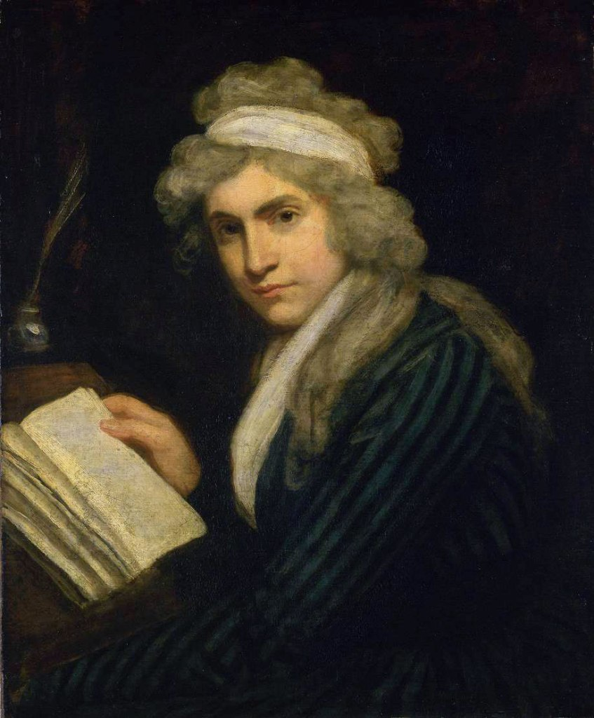 Portrait of Mary Wollstonecraft in the Tate Gallery, John Opie. Via: Wikimedia Commons