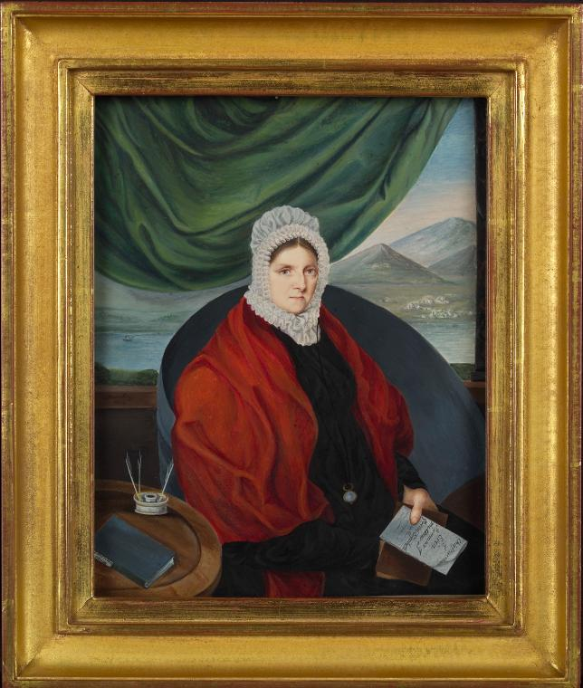 Oil portrait of Margaret King. Via New York Public Library Digital Collection