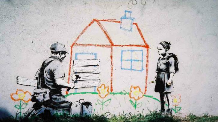 Banksy. Crayon House Foreclosure, East Los Angeles. Via Occupy.com