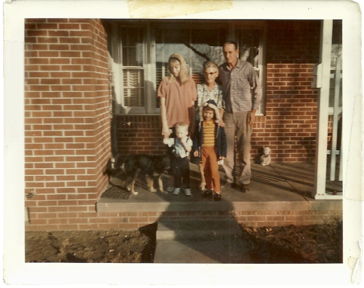 Betty with son Bo and daughter Jeannie visiting family in Wichita, Kan., in 1967, before she lost custody of Bo to an abusive ex-husband in Colorado. (Courtesy of Sarah Smarsh)
