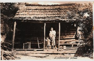 A photograph from c. 1920 of a Cherokee home in North Carolina. (Photo: State Archives of North Carolina/Public Domain)