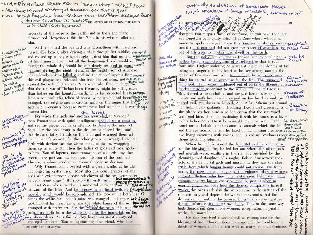 notes scribbled in the margins