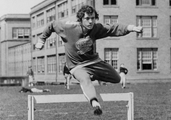 Stella Walsh, training in Cleveland, April 1, 1932 for the Olympic games. (AP Photo)