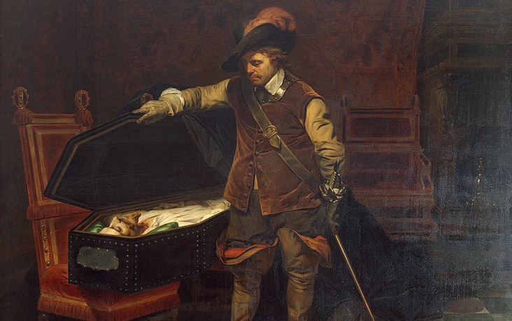 Cromwell before the Coffin of Charles I, Paul Delaroche, 1849. Via  Wikiart.