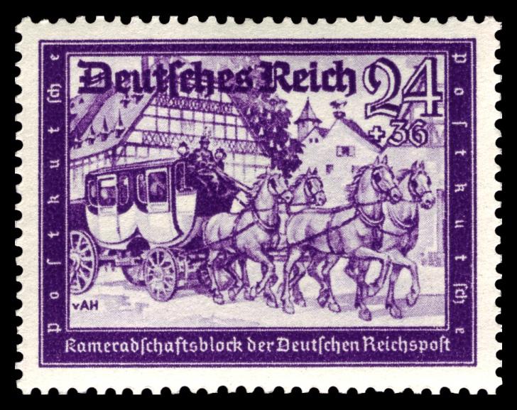 DR_1941_778_Reichspost_Postkutsche