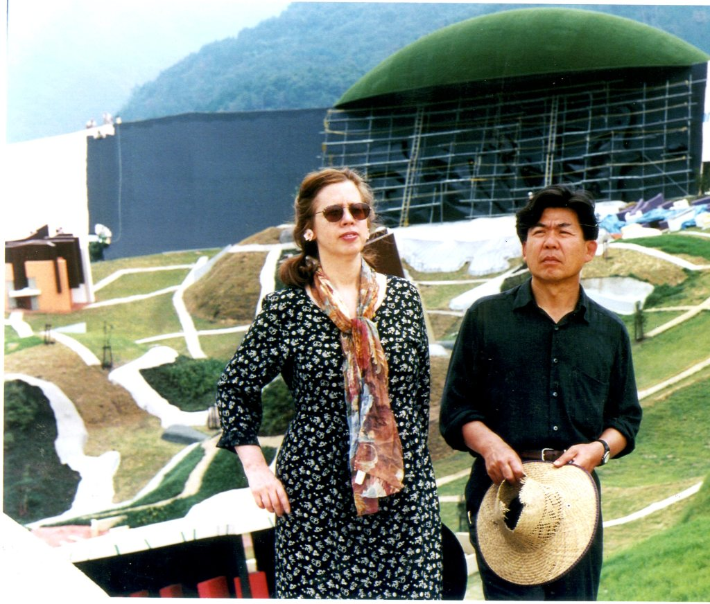 Gins and Arakawa on-site in Yoro. Photo courtesy of the Site of Reversible Destiny Yoro Park.