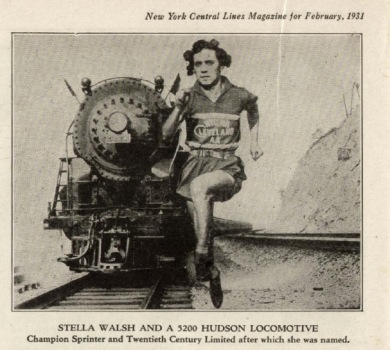 Stella Walsh in The New York Central Lines Magazine, Feb. 1931